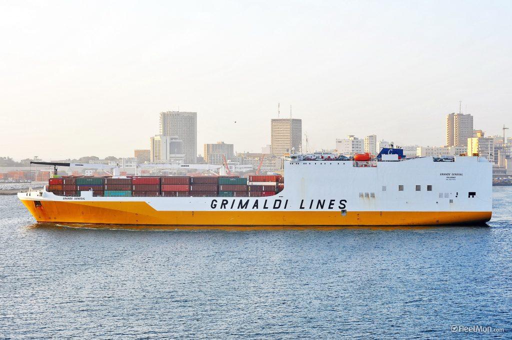 Export sur cargos Grimaldi