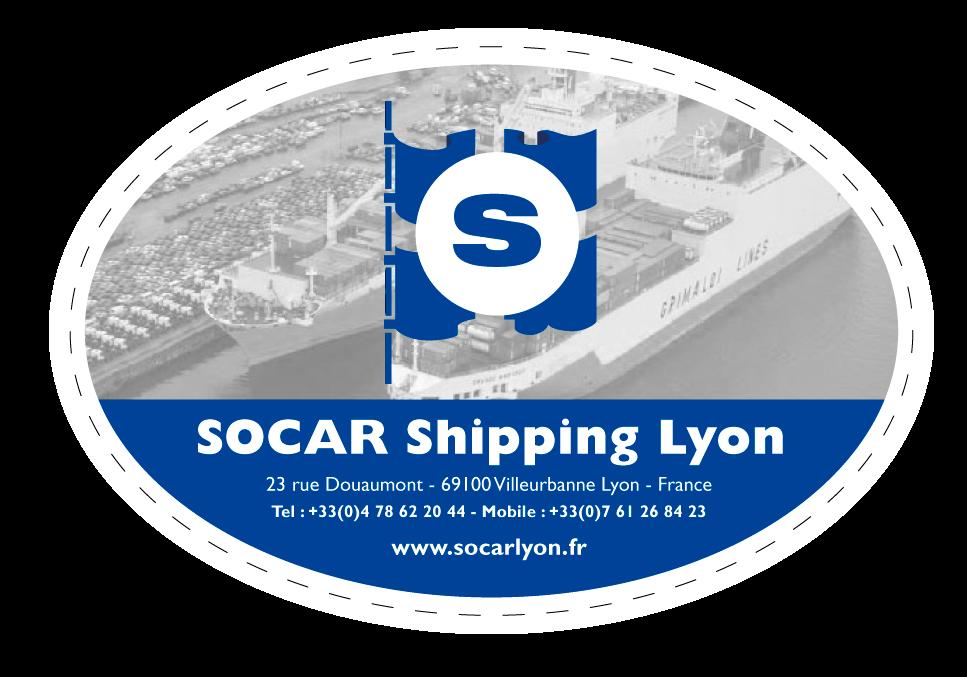 Logo du leader de la vente de véhicules pour l'export : SOCAR Shipping Lyon